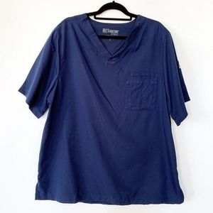 Grey's Anatomy Size XL Barco Scrub Top Blue Men's